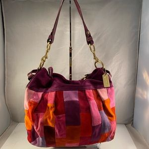 Coach Patchwork Suede Multicolor Bag (Rare)